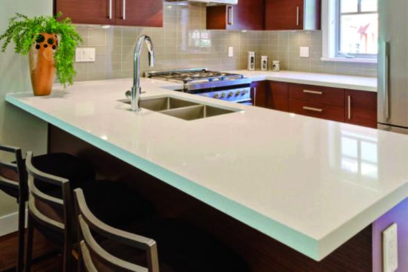 arctic white quartz countertops