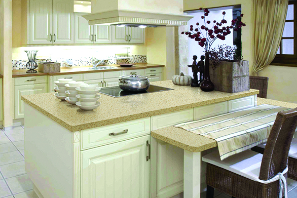 crystal beige quartz countertops