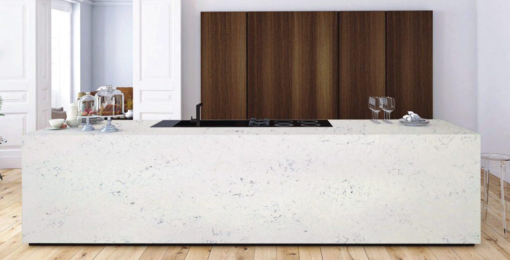 carrara quartz countertops by Imperial Vanities