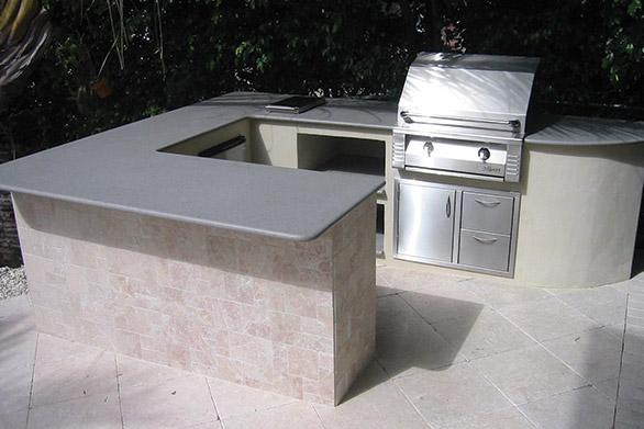 quartz countertops for barbeque station