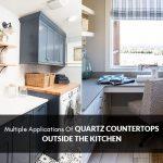 quartz countertops outside the kitchen