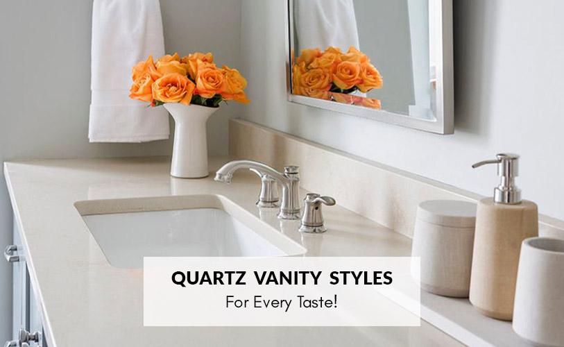 quartz bathroom vanities designs