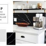 quartz countertops and backsplash pairs