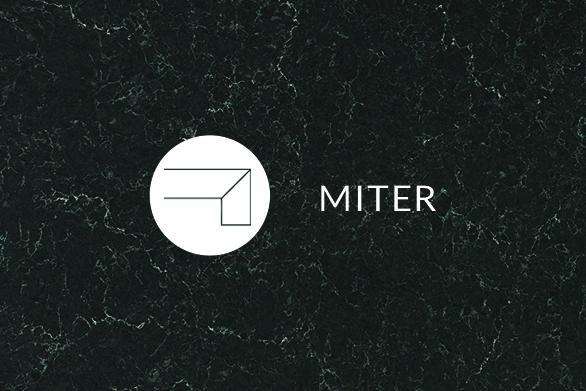 MIter Quartz countertops edge
