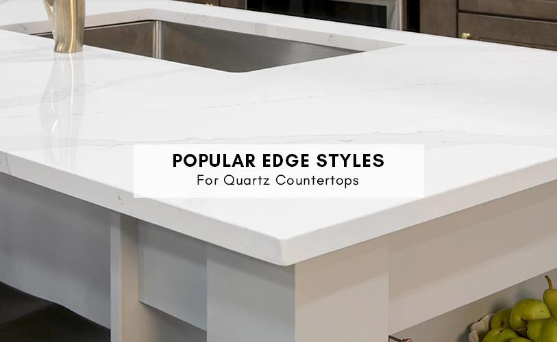Quartz countertops edge