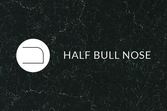 Half Bull Nose Quartz countertops edge