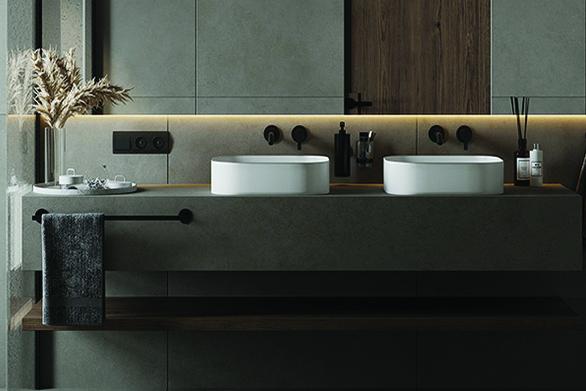 quartz vanity tops for bathroom interiors