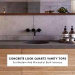 concrete look quartz vanity tops