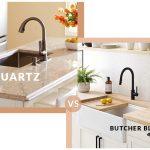quartz countertops vs butcher block