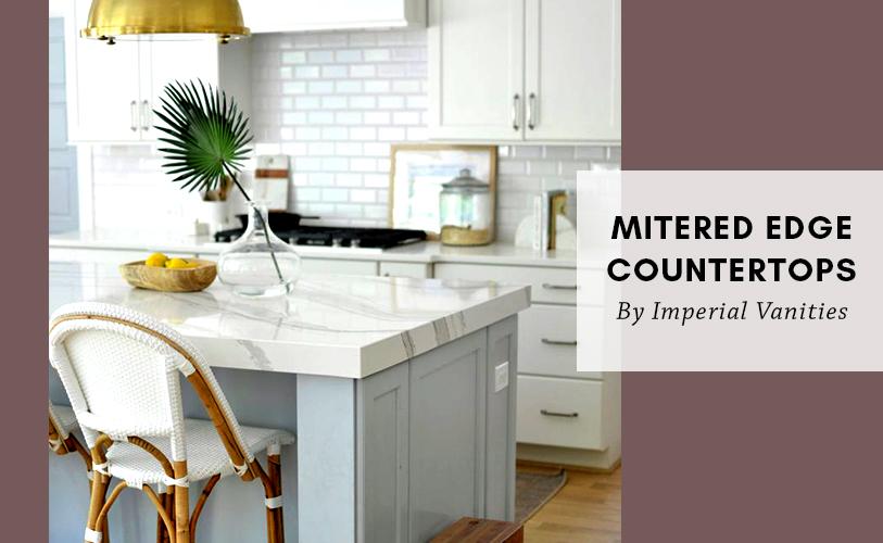 mitered edge countertops